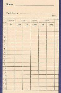 CARD106583 clock cards