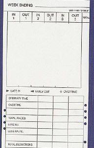 CARDMAX1100 clock cards