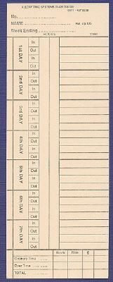 CARDSP125 clock cards
