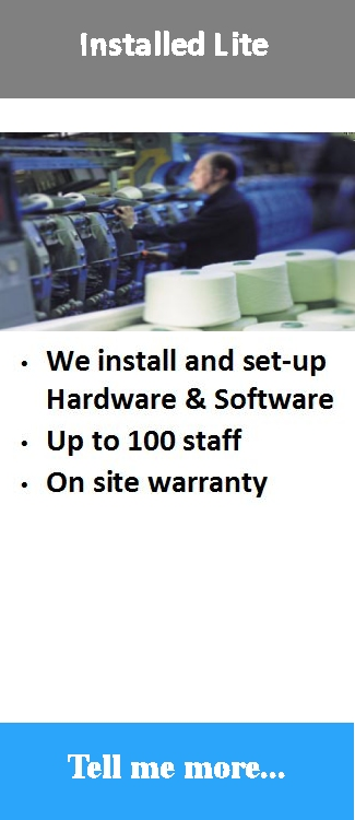 Mid range Professionally installed and supported time attendance software solution