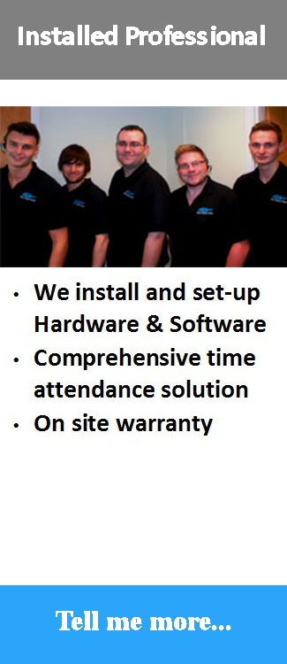 Professionally installed and supported comprehensive time attendance software solution