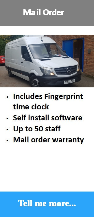 Mail order low cost entry level time attendance software with fingerprint time clock
