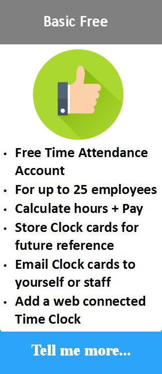 Free cloud time attendance solution