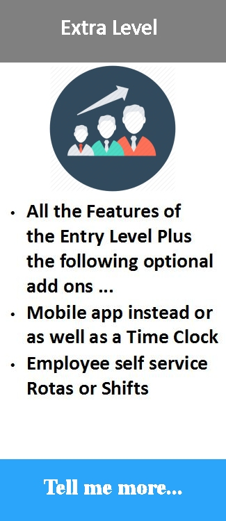 cloud time attendance solution with Mobile app, employee self service rotas